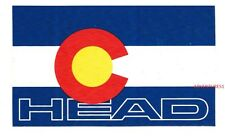 HEAD SKIS/SNOWBOARDS/TENNIS/SQUASH/PADDLE RAQUETS COLORADO FLAG DECAL/STICKER!