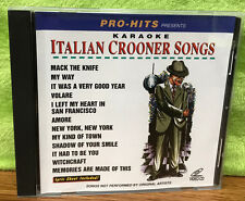 Pro Hits Karaoke Italian Crooner Songs Karaoke Video CD PH V03