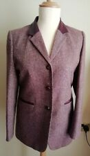 Wool & Silk Blazer,Ladies Jacket By Lady H Size 14.Tweed effect. Ex Condition