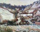 Snow near Falaise Claude Monet Winter Landscape Painting Print Canvas Small 8x10