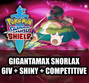 Pokemon Sword and Shield 6IV SHINY GIGANTAMAX SNORLAX Competitive GMAX GIGAMAX