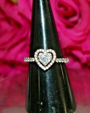IGI Certified 0.75ct Natural Diamond 14k Solid Rose Gold Cocktail Heart Ring
