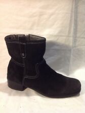 Footglove Black Ankle Suede Boots Size 5