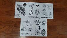 Tattoo Flash -  Set N- 10 Sheets of Quality Designs-$$$