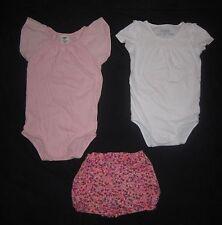 Infant Baby Girls OSHKOSH 2 Bodysuit T-shirts & Floral Shorts - size 24 months