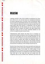 "RUSH-Rare Promo Press Info Sheet ""Hold Your Fire"" 1987"