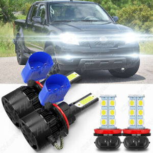 For Nissan Frontier 2005-2018 9007 faro delantero LED luz antiniebla H11 4 cara