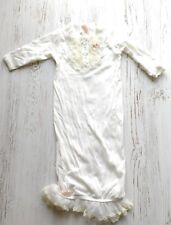 Baby Biscotti Gown white 3 months 8-12 pounds ruffles christening lace dress