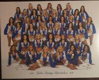 DALLAS COWBOYS CHEERLEADERS Blue NEW Official 2019-2020 Picture Football NFL