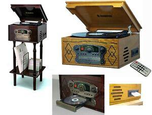 Steepletone Record Player Music System 3 Speed  CD Cassette Radio Nostalgic