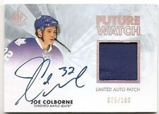 11/12 SP AUTHENTIC FUTURE WATCH AUTOGRAPH PATCH #242 Joe Colborne #75/100