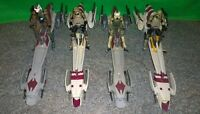 Star Wars ROTS Kashyyyk BARC Speeder Bike + Clone Trooper Lot - Used