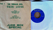 TRINI LOPEZ - THE TEENAGE IDOL VOLUME 1  / JUKE BOX SPECIAL - KING EP