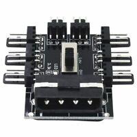 PC 1 zu 8 4Pin Molex Kühler Lüfter Hub Splitter Kabel PWM 3 Pin Netzteil Dreh z3