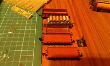 5 X N GAUGE WAGONS. 1 WITH LOAD