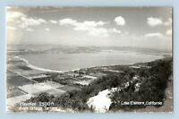 Lake Elsinore CA Ortega Terrace Vintage Panoramic View Real Photo RPPC Postcard