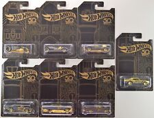2018 Hot Wheels: 50th Anniversary BLACK & GOLD - COMPLETE 7 Car w/ Chase CAMARO