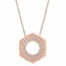 swarovski bolt rose gold plated crystal pendant 5073124 hexagon stone collection