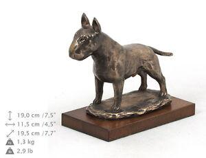 Bull Terrier, Holz Statuette, Bronze, ArtDog, DE