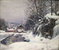 """perfect 36x24 oil painting handpainted on canvas """"Winter""""@N8759"""