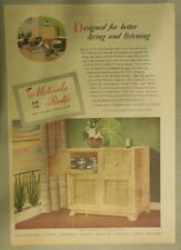 Motorola Ad: Designed For Better Living and Listening Deluxe Radio from 1950's