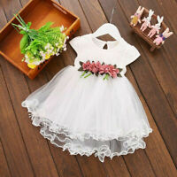 Baby Toddler Dress Party Lace Floral Pageant Girls Princess Kids Dresses Tutu