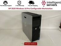 HP Z620 V1 / V2 Windows 10 Pro Configurable Workstation
