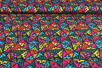 Baumwolljersey Ki-Kö-Design Traumstoffe Mandala Dreiecke Bunt