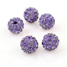 20 Pcs Round Pave Disco Balls Crystal Beads For Jewelry Making 10MM