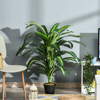 110cm/3.6FT Artificial Dracaena Plant Realistic Fake Tree Potted Indoor Outdoor
