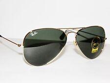 RAY BAN sunglasses 3025 Rayban 113 Gold/Green  58 Large AVIATORS Free S/H
