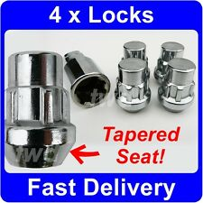 4 x TAPER SEAT ALLOY WHEEL LOCKING NUTS FOR TOYOTA LAND CRUISER (80) LUGS [6P]