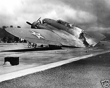 B17 Bomber Plane Destroyed World War 2 WWII 8 x 10 Photo Picture