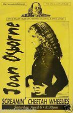 JOAN OSBORNE / SCREAMIN' CHEETAH WHEELIES 1996 PHILADELPHIA CONCERT TOUR POSTER