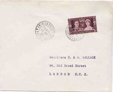 Tangier 1937 Coronation 13th May 27 d.s. Sent to London
