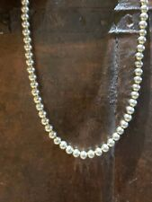 "Vintage Korea Gold Tone Beaded Necklace 16"" EUC Classic Design"