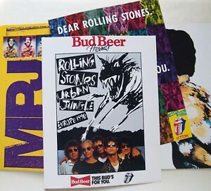 ROLLING STONES / URBAN JUNGLE TOUR PROGRAMME EUROPE 1990 WITH BUD & TDK INSERTS