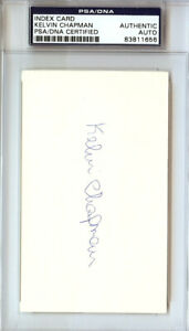 Kelvin Chapman Autographed Signed 3x5 Index Card New York Mets PSA/DNA #83811656
