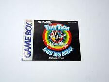 TINY TOON ADVENTURES BAB'S BIG BREAK manual only Nintendo Game Boy GERMAN