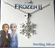 """Cubic Zirconia Frozen Snowflake Pendant Necklace in Sterling Silver 16"""" + 2"""""""