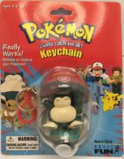SNORLAX POKEMON POKEBALL CATCH AND RELEASE KEYCHAIN BY BASIC FUN VINTAGE 1999