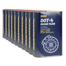 MANNOL Brake Fluid DOT-4 Bremsflüssigkeit SAE J 1703/ ISO 4925, 10x1 Liter