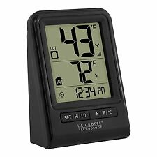 La Crosse Technology 308-1409BT-CBP Wireless Temperature Station with Time black