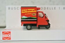 Busch 48463 Piaggio Ape Mobile Grill Thuringer Bratwurst German Writing  NIB