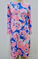 "New Lilly Pulitzer Women's Noelle Dress Bennet Blue ""Bay Dreamin,"" XS-L"