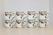 """8 - 3 1/8"""" x 3 3/4"""" / 8 OZ CUPS; JOHNSON BROTHERS GOLDEN PEARS; PEAR & LEAF"""
