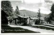 Postcard RPPC THE COTTAGES JASPER PARK LODGE Canadian Rockies  Log Cabins  hf914