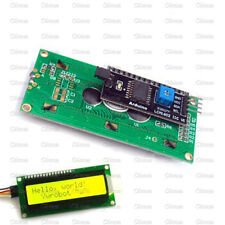 Yellow Display IIC/I2C/TWI/SPI Serial Interface 1602 16X2 Character LCD Module