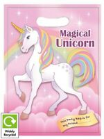 10 MAGICAL UNICORN BIRTHDAY PARTY BAGS ~ RECYCLABLE LOOT TREAT FAVOUR GOODY BAG