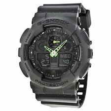 G-SHOCK Men's GA-100 Ghost Black Military Green Color Guard Watch